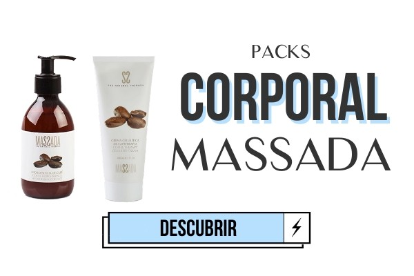 PACKS MASSADA CORPORAL CREMAS NATURAL ANTI ESTRIAS CELULITIS MIPELAZO